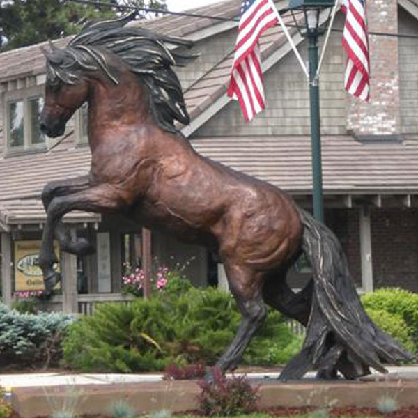 7ft bronze rearing horse garden statues for sale