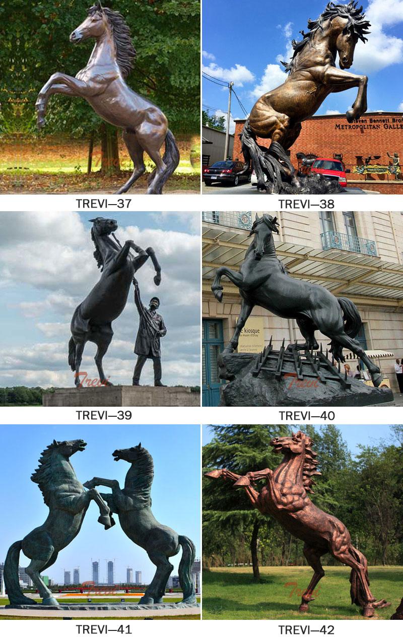 Bronze rearing horse sculptures designs
