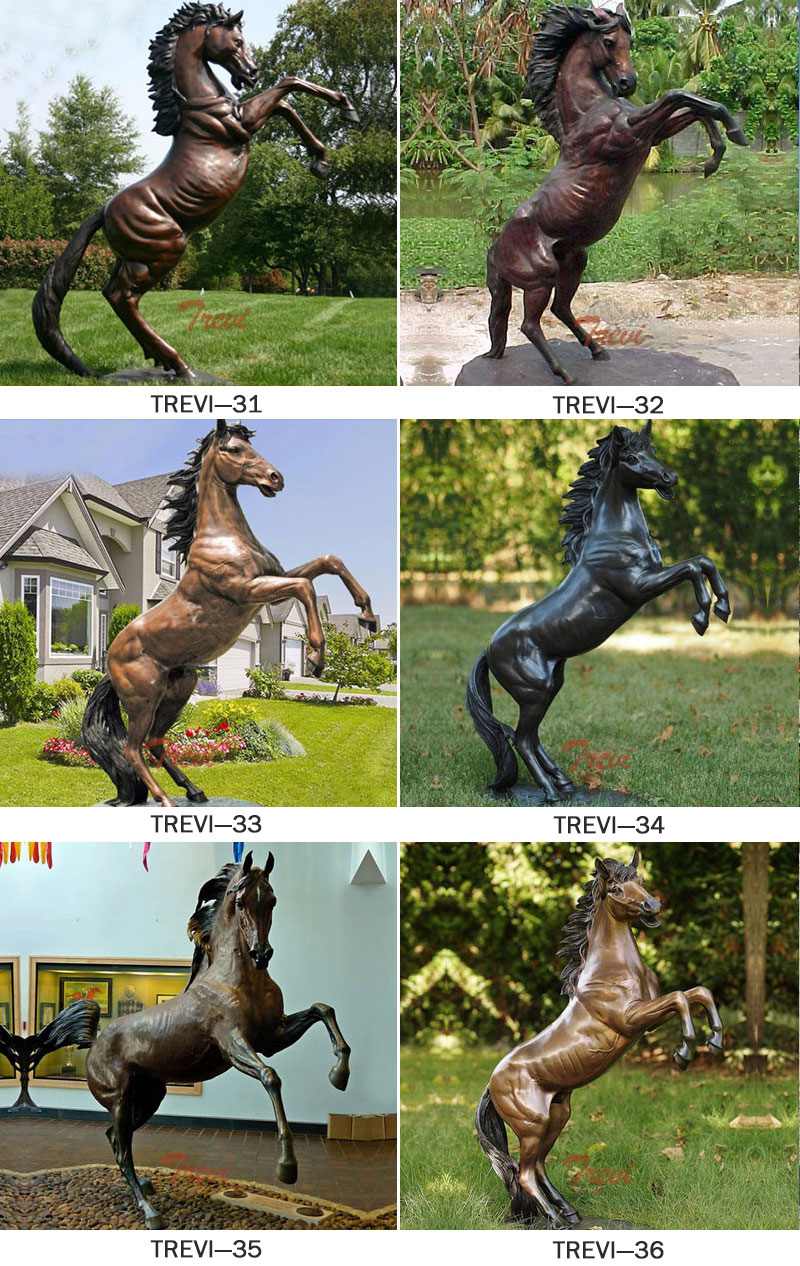 Bronze rearing horse statues designs