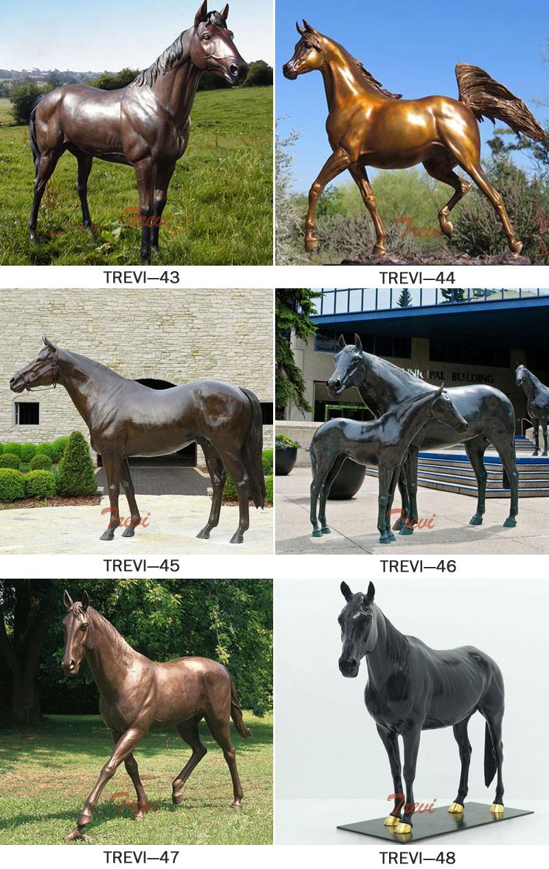 Bronze standing horse sculptures designs