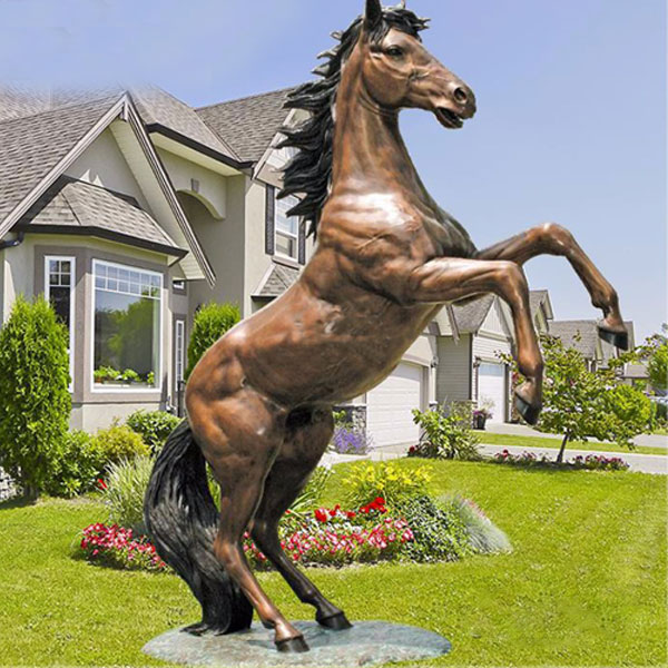 Sell real size oriental rearing horse sculptures designs