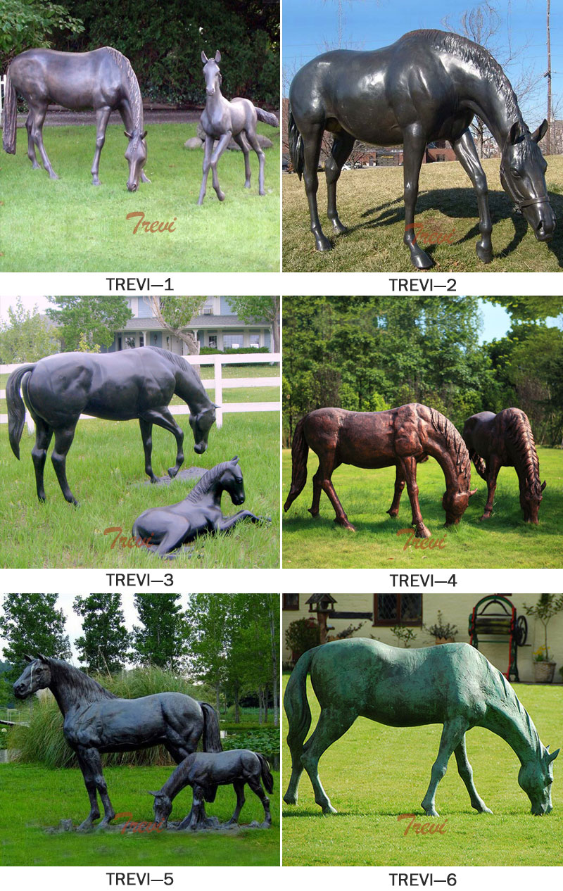 life size bronze grazing horse statues designslife size bronze grazing horse statues designs