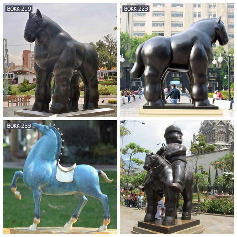 vintage bronze horse statues